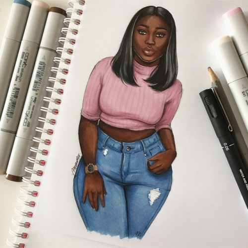 Cute Nike Girl Drawing Tumblr