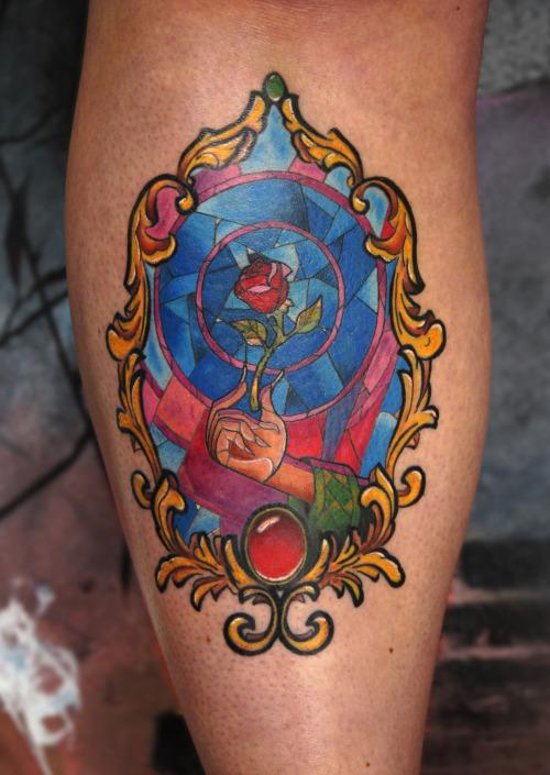 Mirror Rose Tattoo