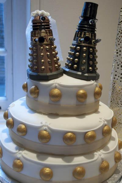 Official Doctor Who Tumblr Awesome Doctor Who themed wedding cakes