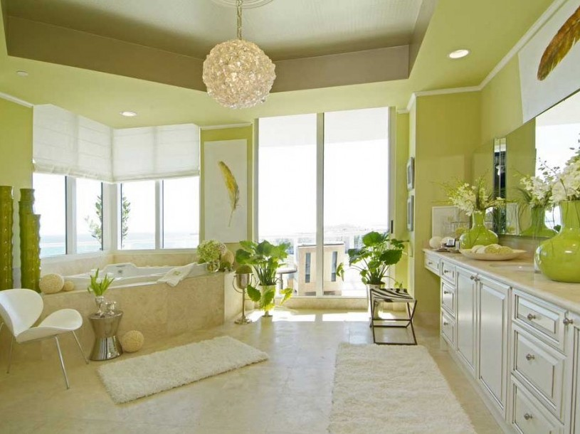 Minimalist Modern House Paint Colors 2018   4 Home Ideas Green Paint Color Idea For Minimalist Bathroom