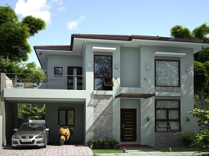 2 Storey Simple Modern House Design   4 Home Ideas 2 Storey Simple Modern House Design