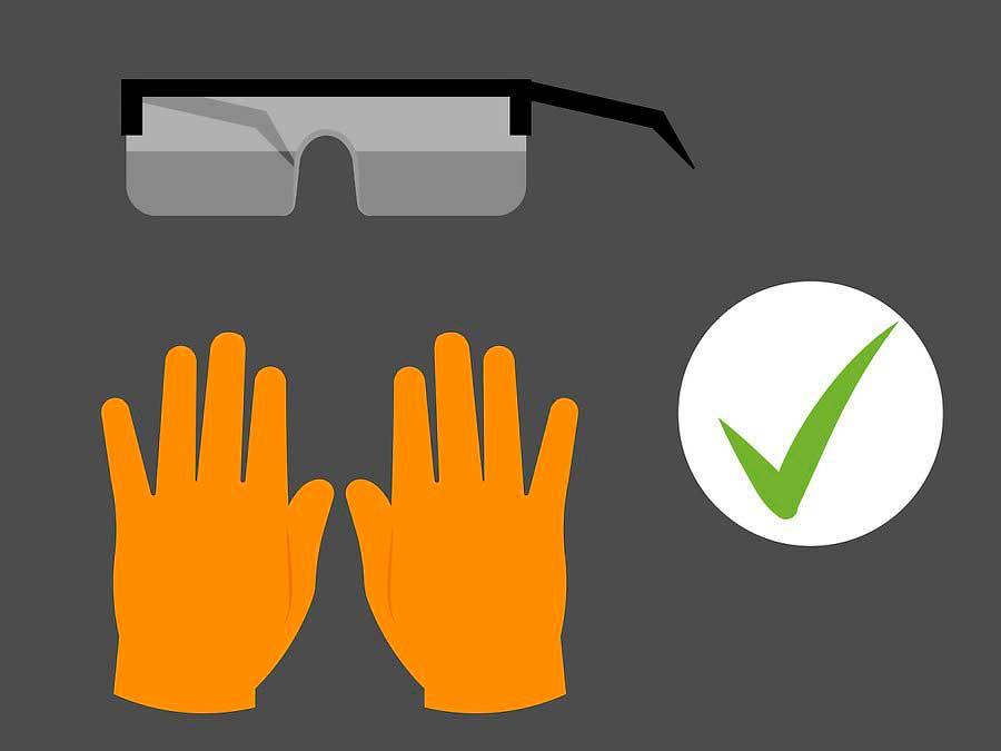 장갑과 안경