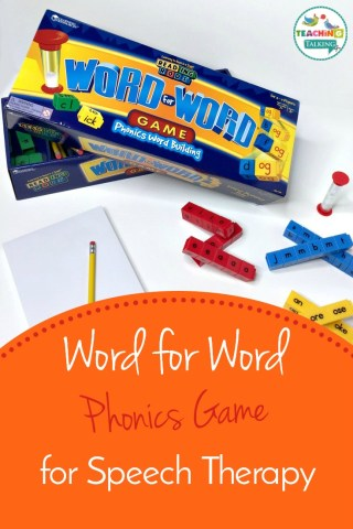 Word for Word Phonics Game for Speech Therapy   The Word for Word Phonics Game is great word building fun for kids learning  to read