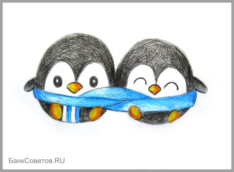 चरण №14: पेंगुइन पेनी कैसे आकर्षित करें