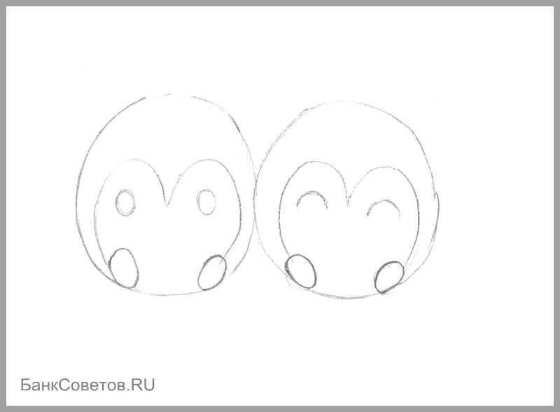 चरण संख्या 6: पेंगुइन पेनी कैसे आकर्षित करें