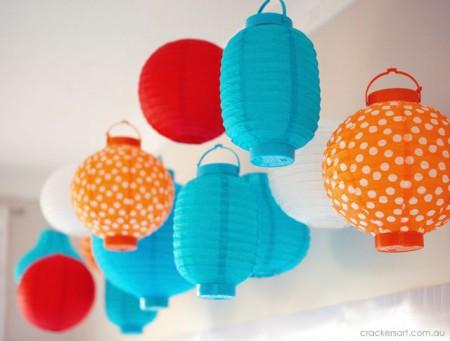 Kinesiske lanterne gør det selv fra papir: ordninger med video