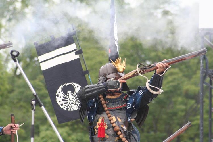 Samouraï avec arme à feu