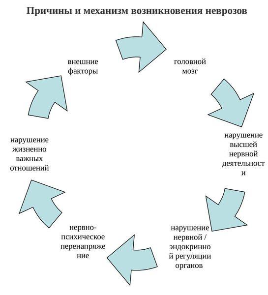Нейроз пайда болу механизмі