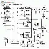 VHF-FM-vastaanotin KR174HA34A-mikrotyössä USB-teholla