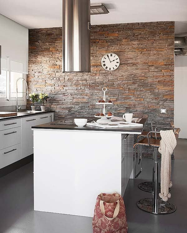 Interesting island extractor in modern kitchen