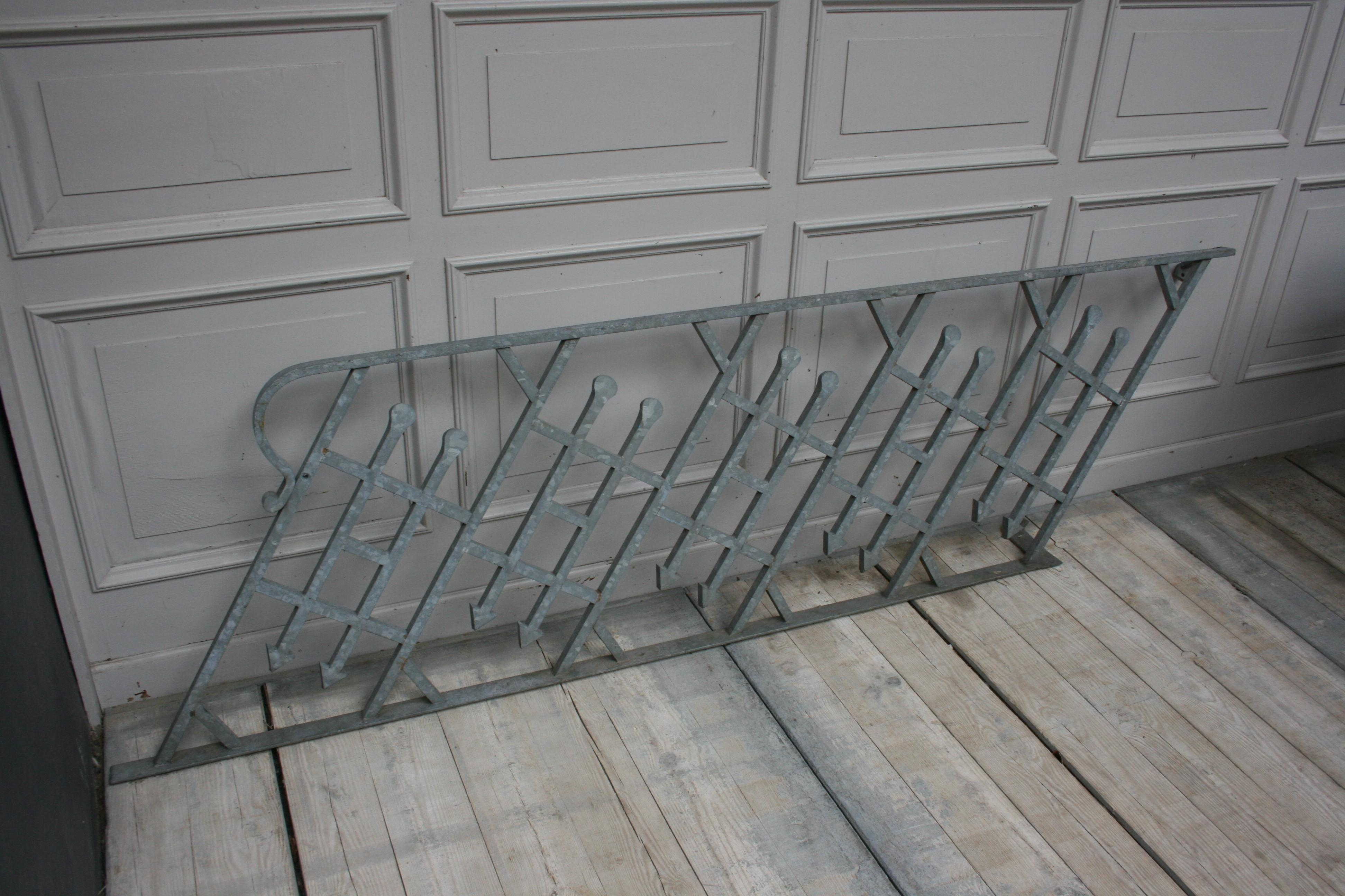 Antique Wrought Iron Stair Railing Sandblasted And | Stair Banisters For Sale