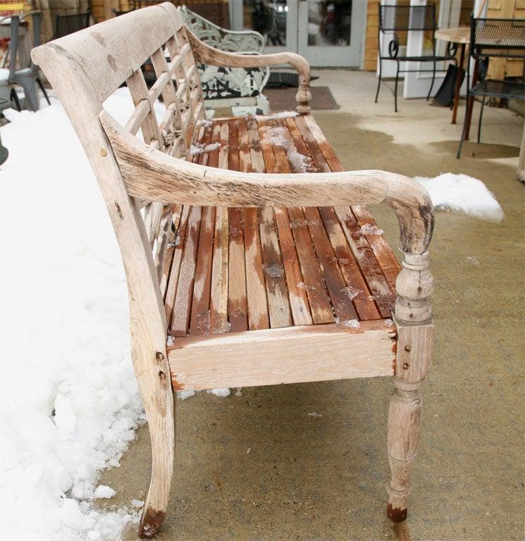 Hand Carved Indoor Or Outdoor Teak Bench At 1stdibs