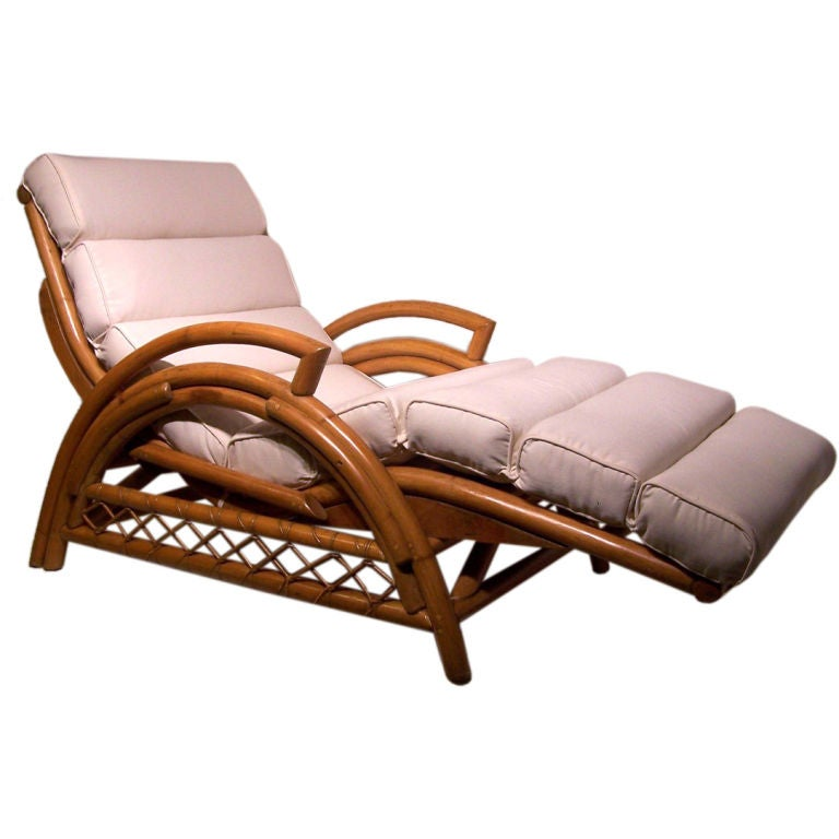 Vin E Rattan Chaise Lounge Chair At Stdibs