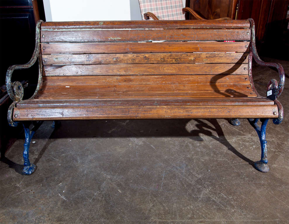 Settee Iron Antique Cast