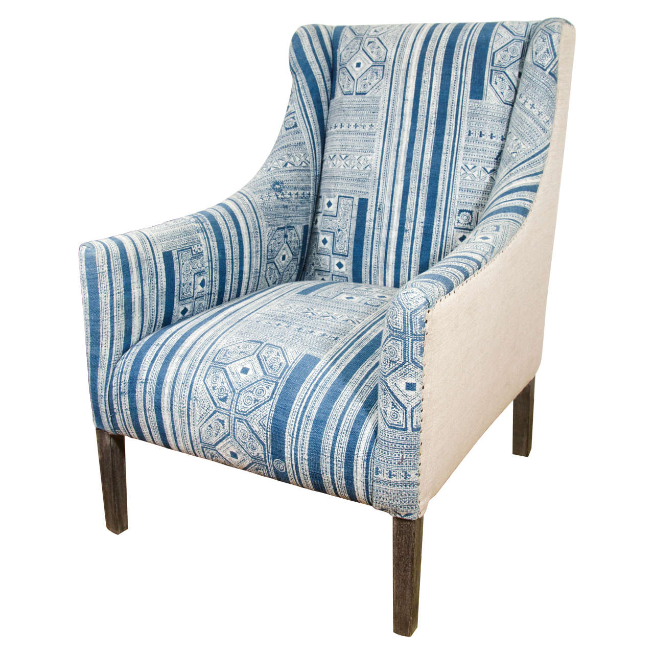 Blue And White Chair