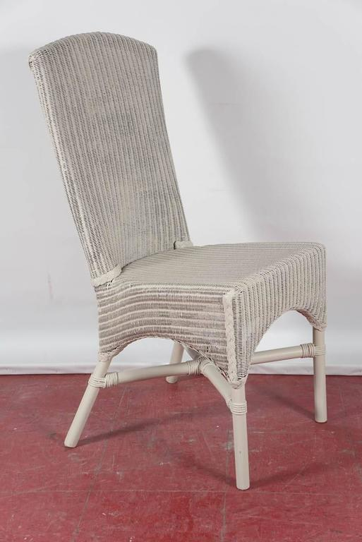 Six Vintage Lloyd Loom Wicker Dining Chairs At 1stdibs