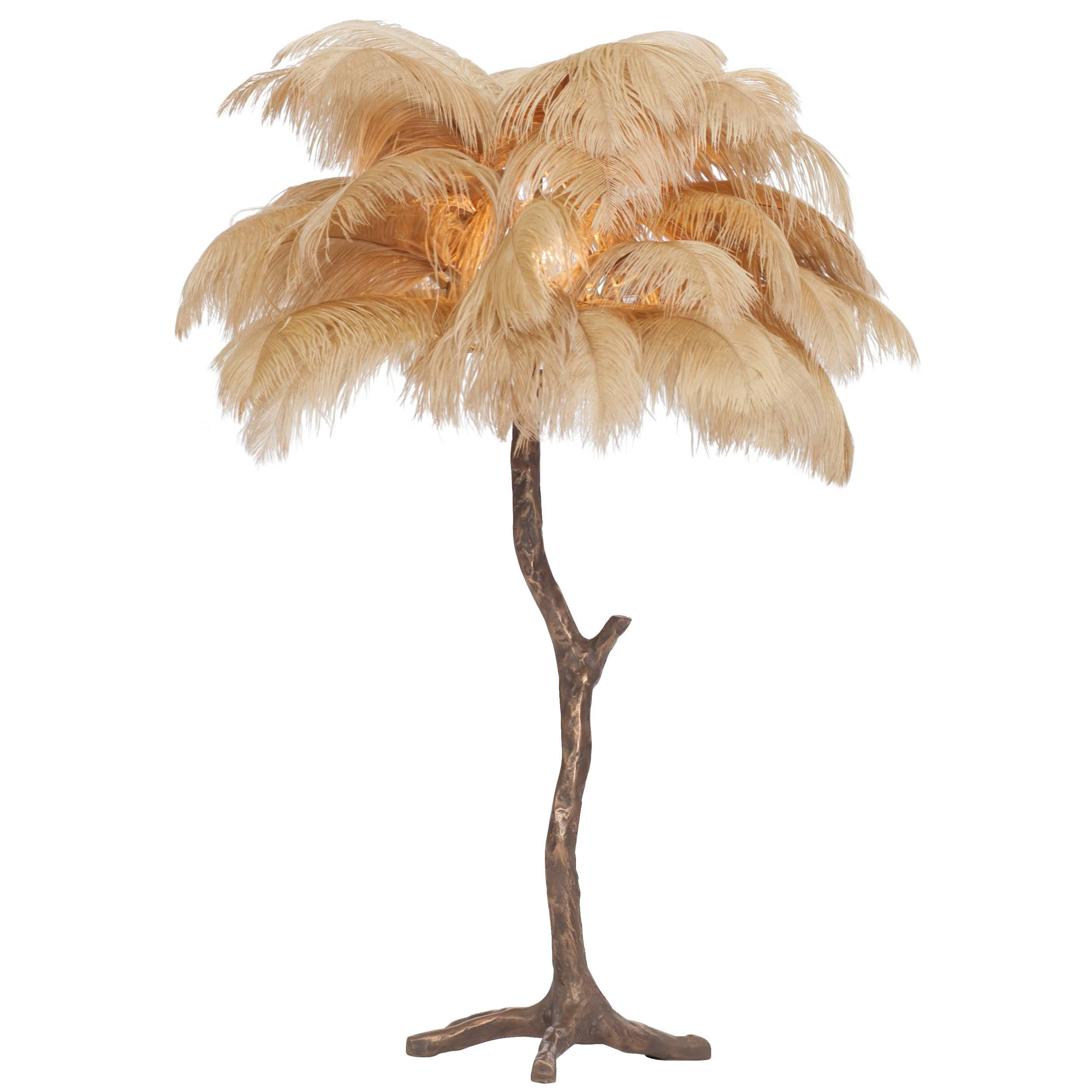 White Palm Tree Lamp