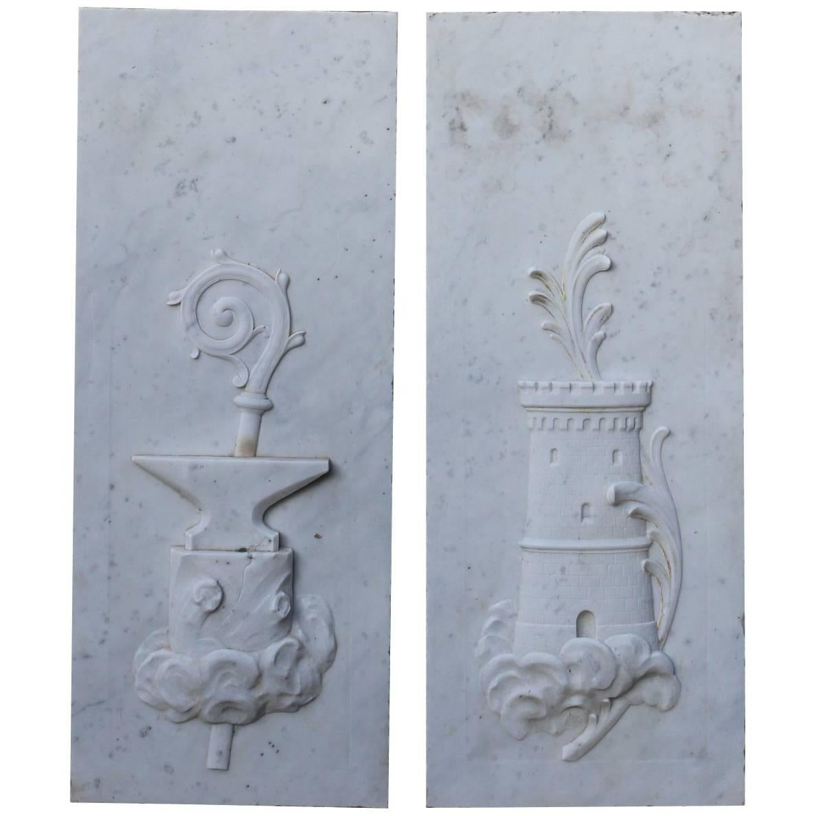 Plaster Wall Relief Plaques Large