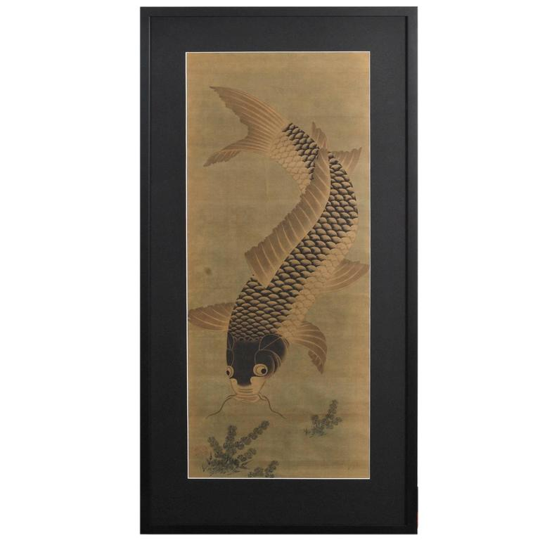 Antique Scroll Paintings Asian Bamboo