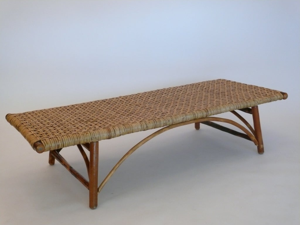 Woven Hickory Bench At 1stdibs