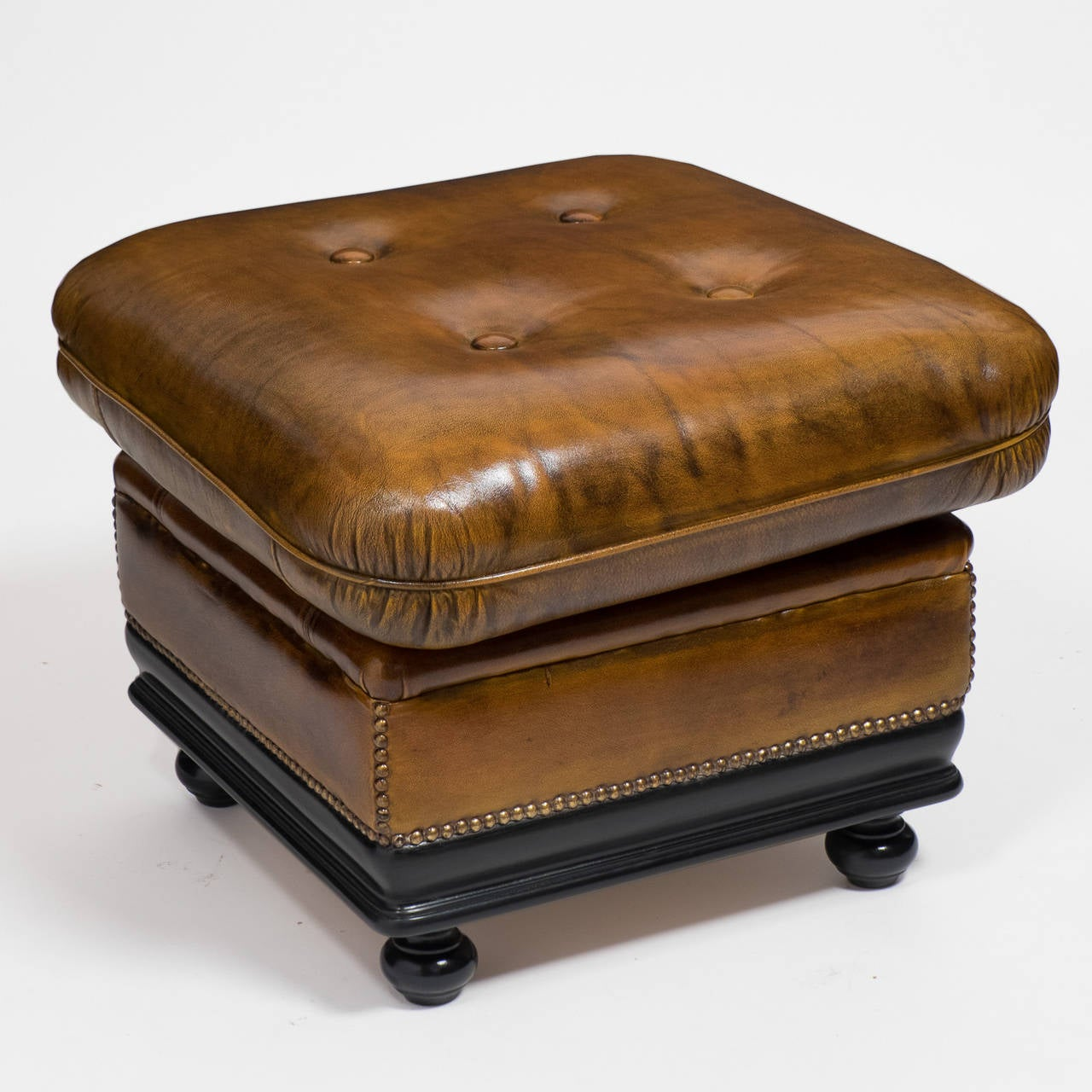 Brown Leather Ottoman Sale