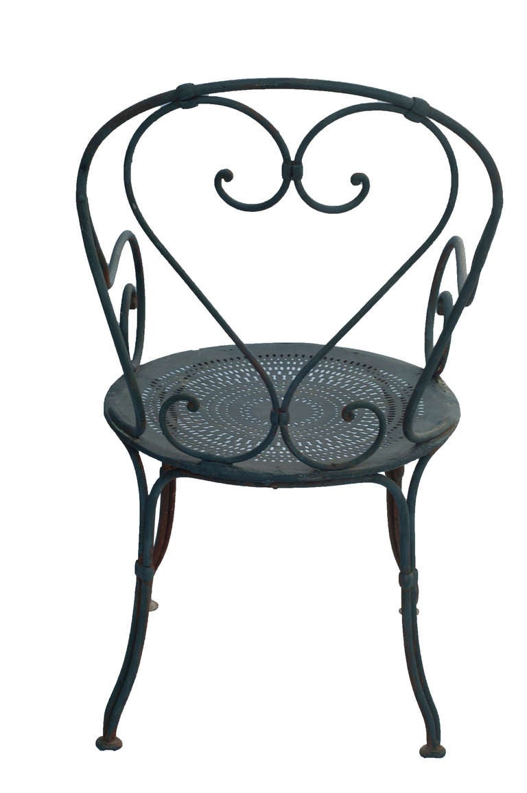 Cast Iron Bistro Patio Set 2 Chairs