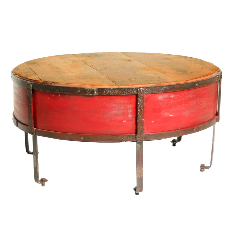 Red Painted Side Tables