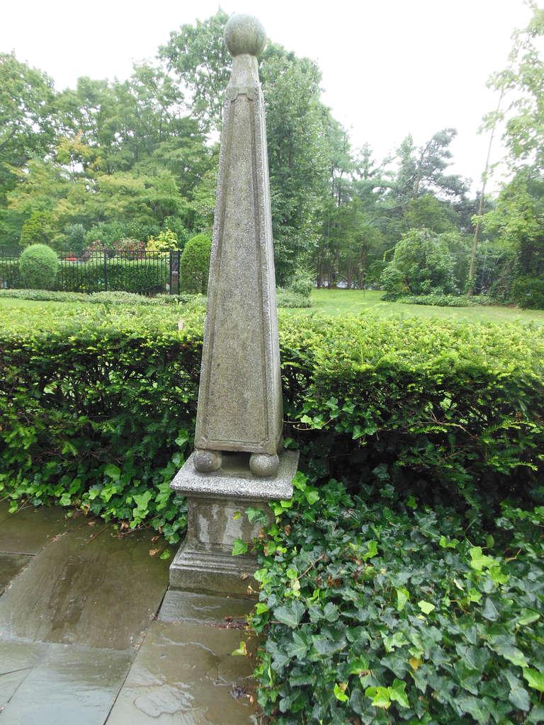 Four Obelisks Of Cast Stone For Sale At 1stdibs