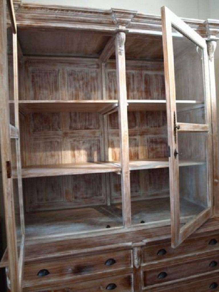 French Country Style Linen Press Cabinet Cupboard 8 Foot