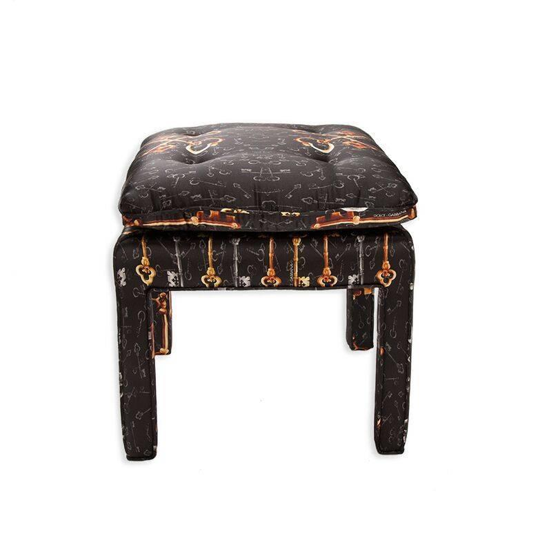 Pair Of Billy Baldwin Bench Stools In Dolce And Gabbana