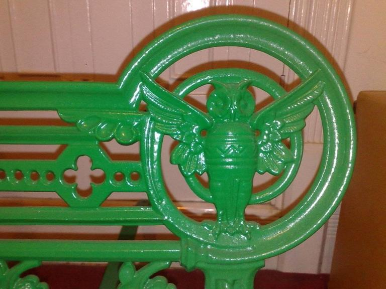 A Cast Iron Owl Garden Bench In The Style Of Dr C