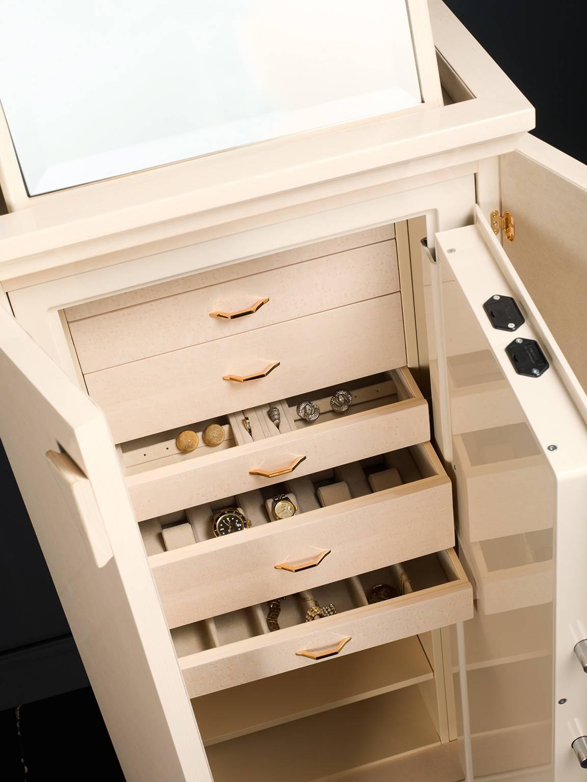 Cream Colored Jewelry Armoire