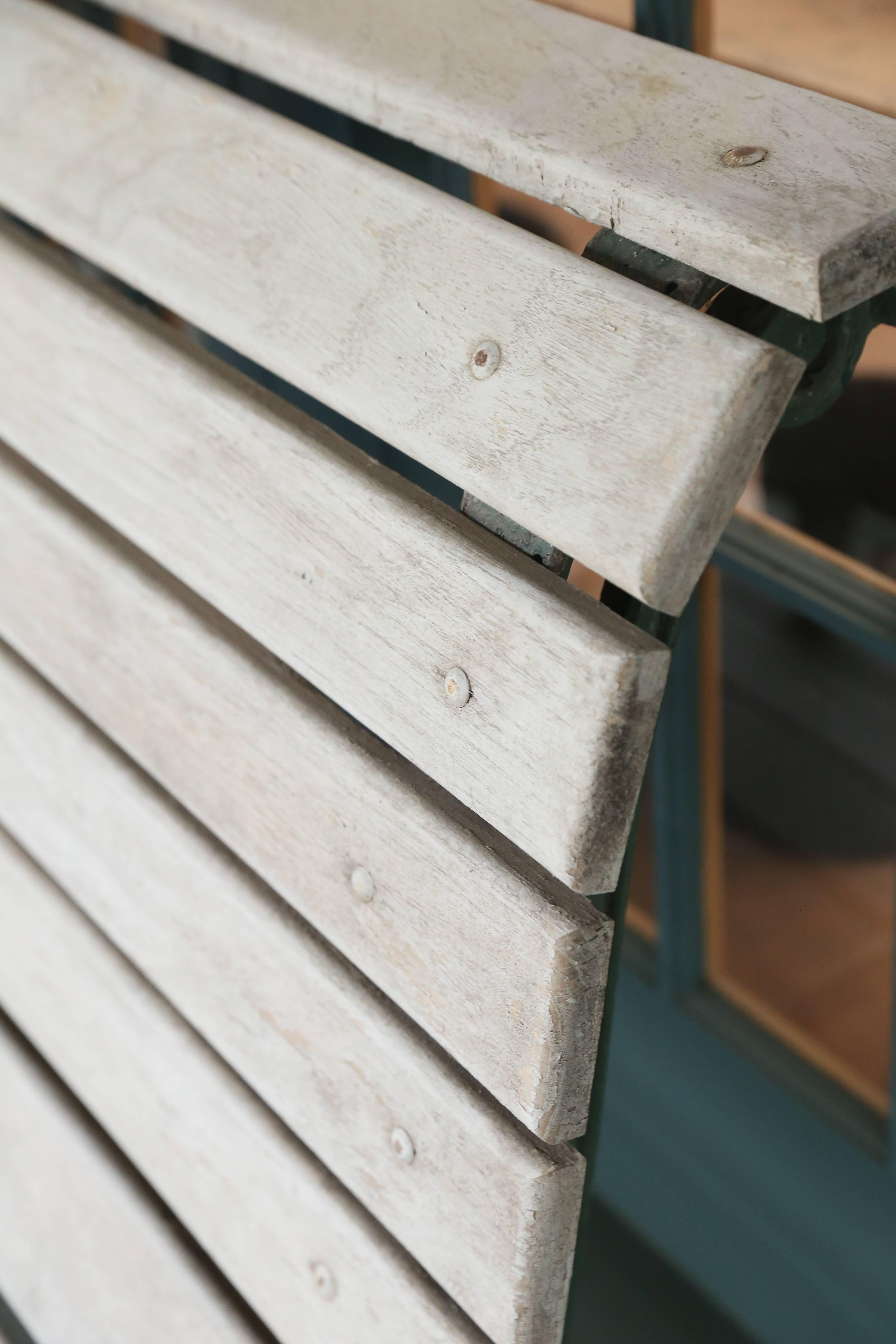 Curved Wood Slat And Iron Park Bench With Back From