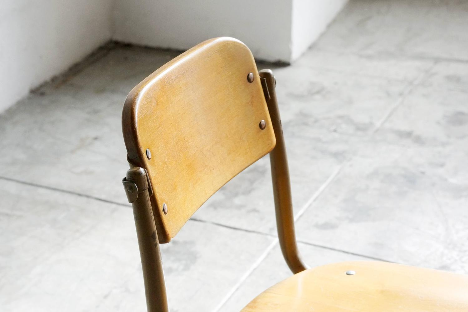 vintage schoolhouse chairs 1940s