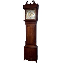 French Painted Tall Case Morbier Clock For Sale At 1stdibs
