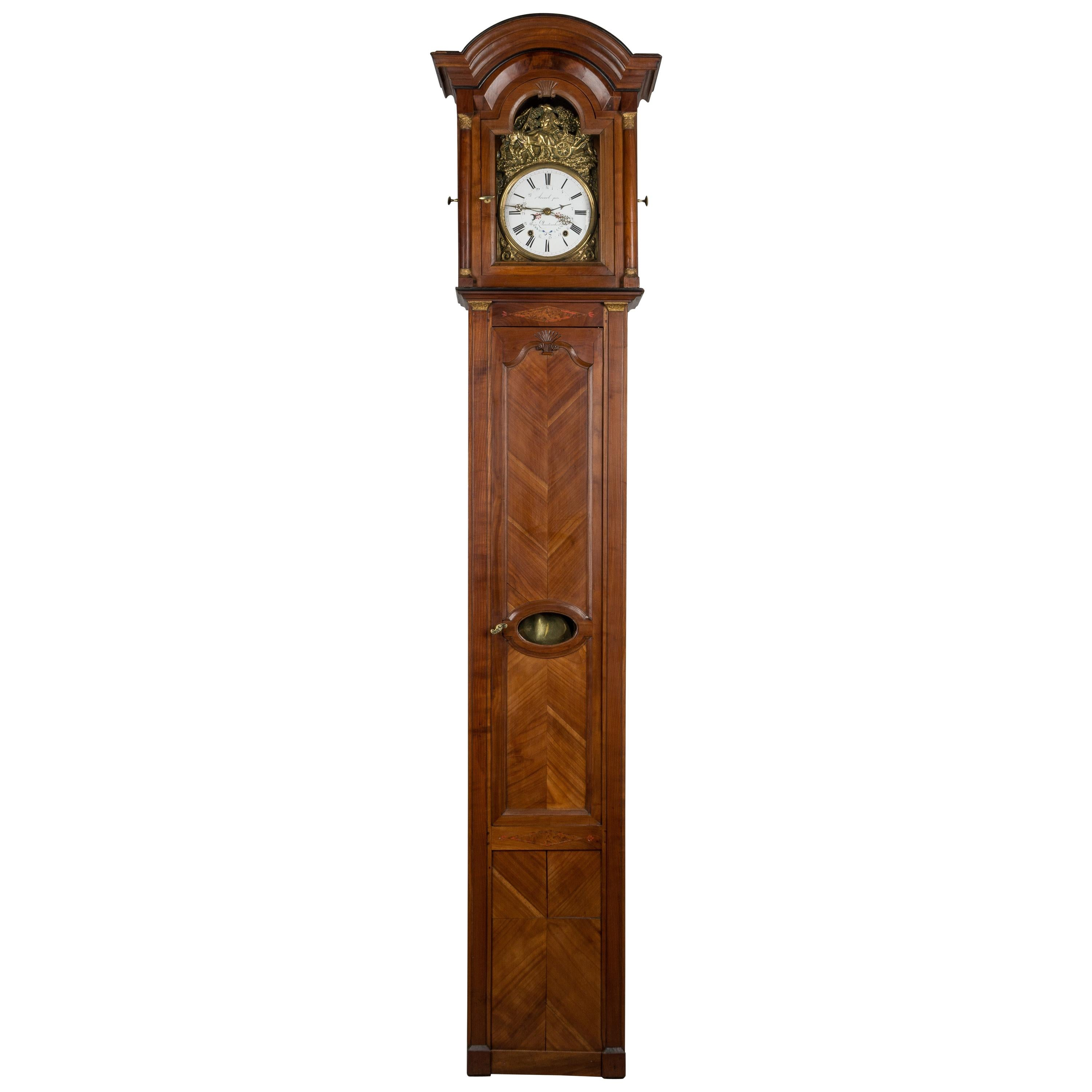 French Country Tall Case Clock For Sale At 1stdibs