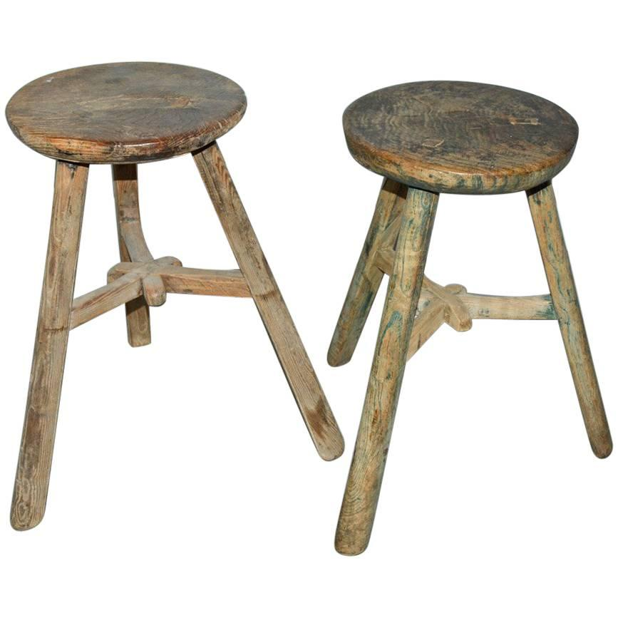 Asian Inlaid Table Stools
