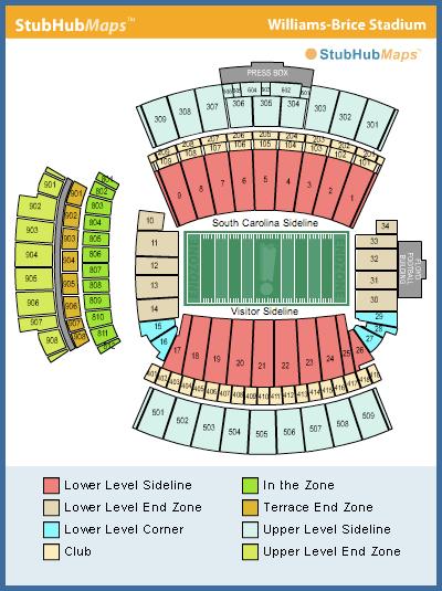 Cowboys Football Chart Stadium Seating
