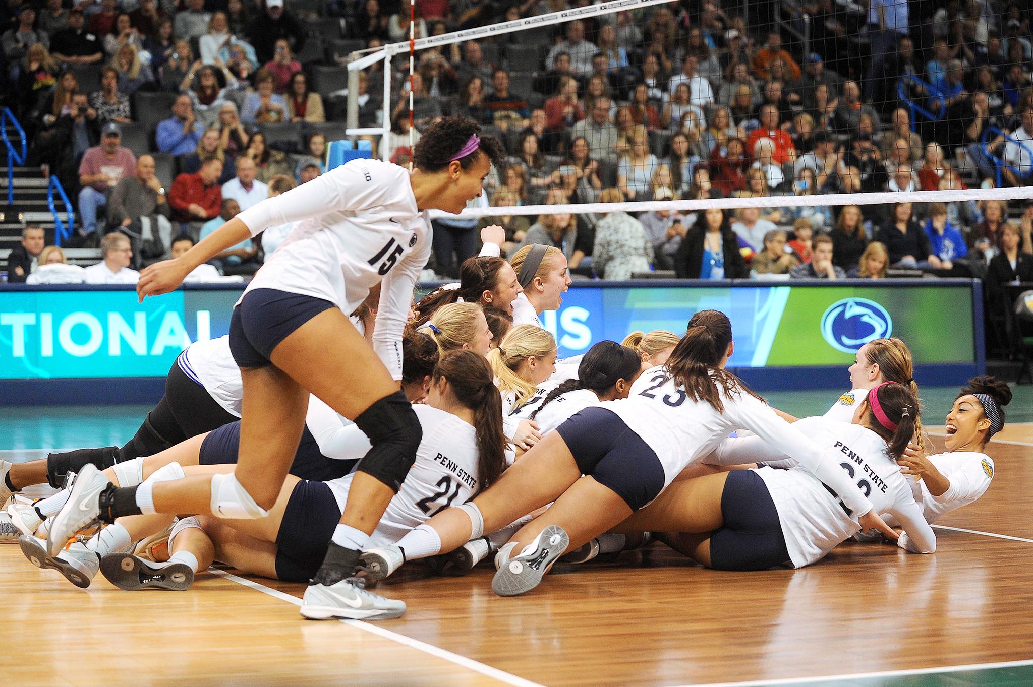 NCAA Volleyball Final: Penn State Celebrates - 2014 NCAA ...