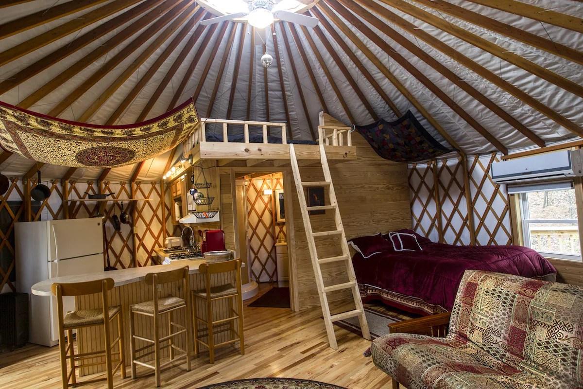 Serenity Yurt Yurts For Rent In Asheville North Carolina United States