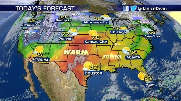 We re seeing all four seasons on one weather map    Fox News April has certainly been a crazy month of weather so far  And this week is  no exception