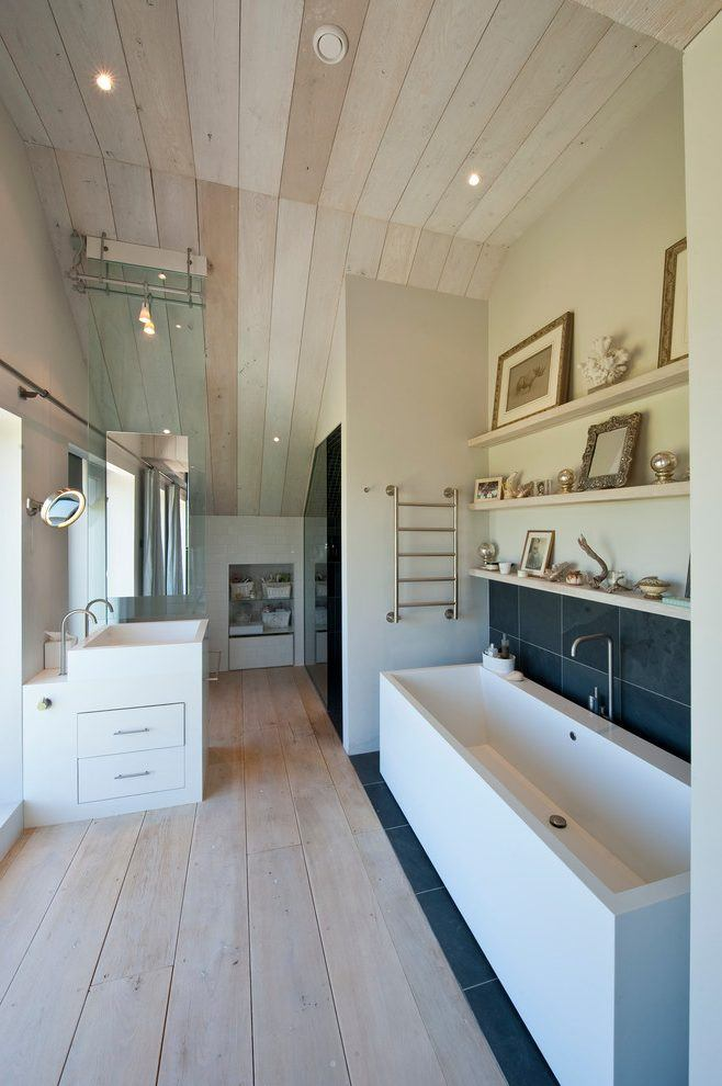 20 Wooden Ceilings Bathroom Ideas Housely