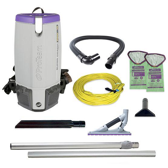 ProTeam Super Coach Pro 10, 10 qt. Backpack Vacuum w/ ProBlade ...