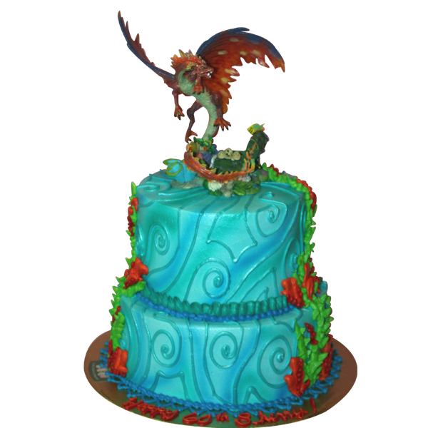 1007 Tiered Dragon Cake Abc Cake Shop Amp Bakery