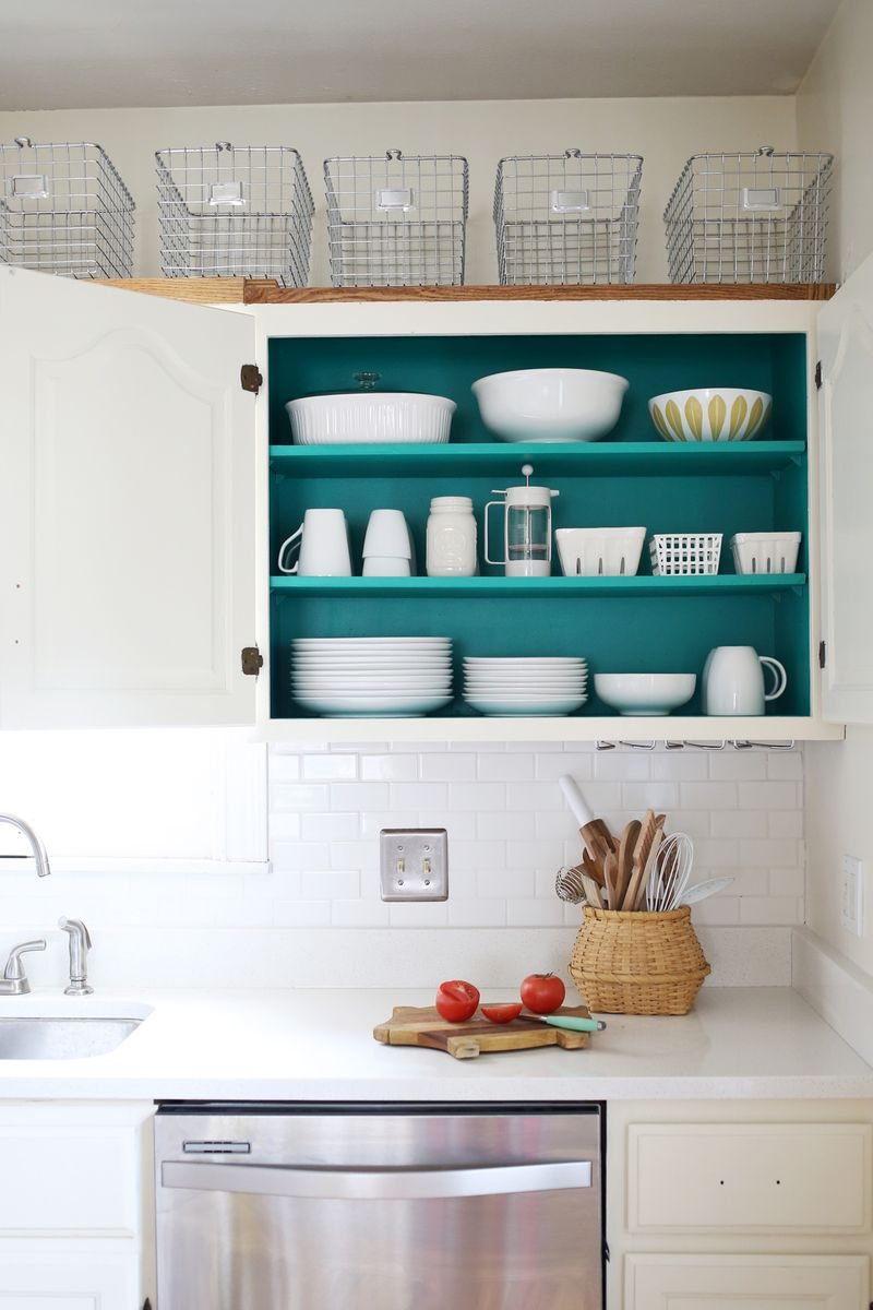 Best Kitchen Gallery: Nesting Colored Kitchen Cabi S A Beautiful Mess of Adding Color To Kitchen Cabinets on rachelxblog.com