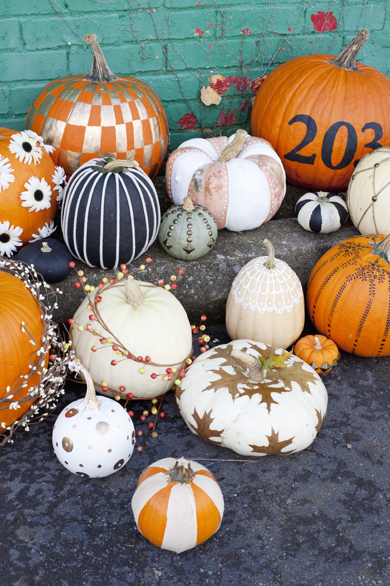Easy No Carve Pumpkin Ideas   A Beautiful Mess easy no carve pumpkin ideas