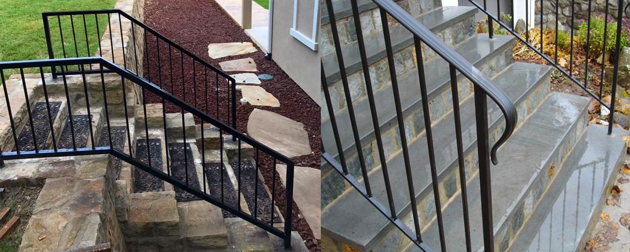 Handrail Installation Companies Custom Handrails Stairway Railings   Metal Handrails For Steps   Diy   Stair   Single Post   Victorian   Small