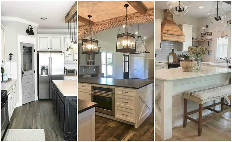 20 Farmhouse Kitchen Ideas for Fixer Upper Style   Industrial Flare Love these gorgeous farmhouse kitchen ideas  farmhouse kitchen cabinets   farmhouse kitchens  farmhouse cabinets