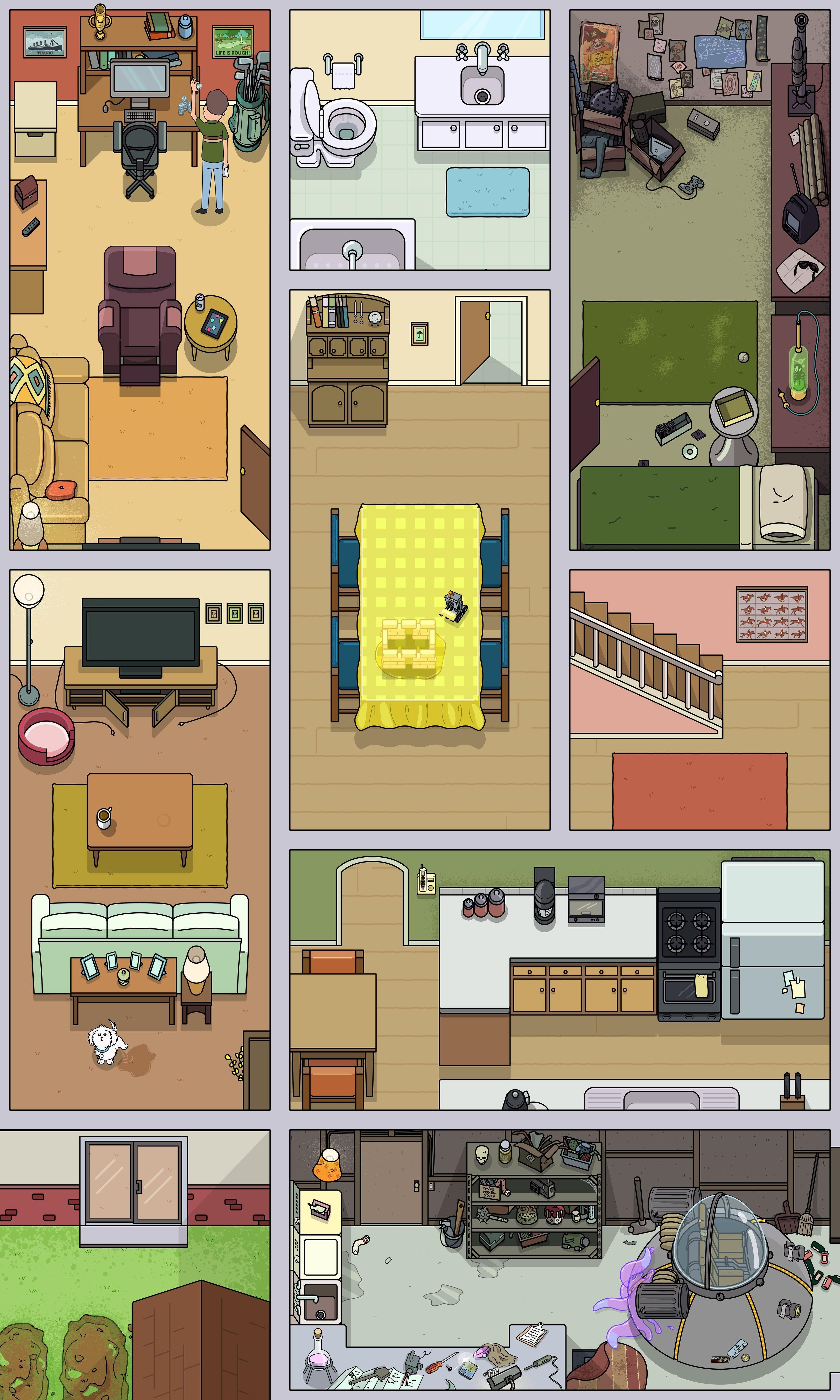 Rick And Morty Layout House