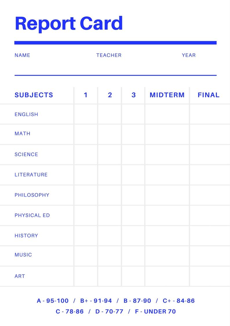 School Progress Reports Sample Elementary